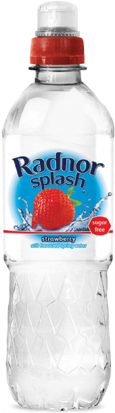 Radnor Splash Strawberry Flavoured Water 24x500ml